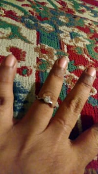 silver-colored ring with clear gemstones Falls Church, 22041