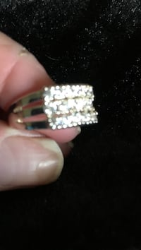 Sterling silver cz diamond ring size 8 Virginia Beach, 23451