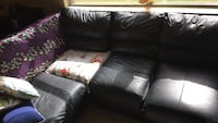 Black Leather Sectional Durant, 74701