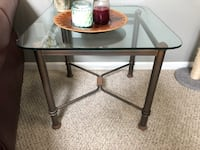 Glass top coffee and end table. $100 Oxford, 19363