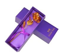 24K Gold Plated Rose Flower Creative Thanksgiving Mother's Day Valentine's Day Anniversary Gift (Golden) 纽约市, 11373