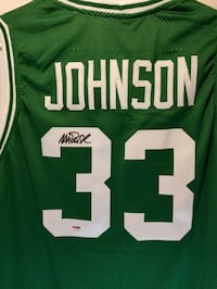 Magic Johnson Signed Autograph Jersey w/Proof Syracuse, 13212