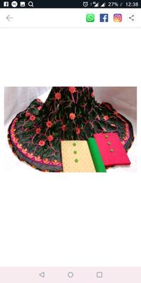 pink and black floral textile Mumbai, 400026