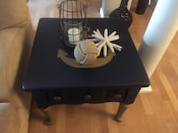 Refurbished lane altavista side table in chalky honor blue with gold metallic ..anchor is hand painted New Bedford, 02740
