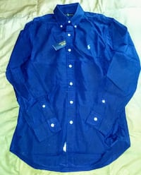 blue button-up long-sleeved shirt Silver Spring, 20906