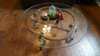 round clear glass top coffee table Adel, 31620