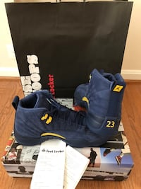 Air Jordan 12 Michigan size 10.5 Deadstock with receipt Alexandria, 22302