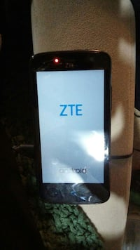 black ZTE Android smartphone. Independence