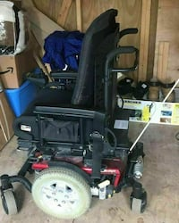 black and red power wheel chair