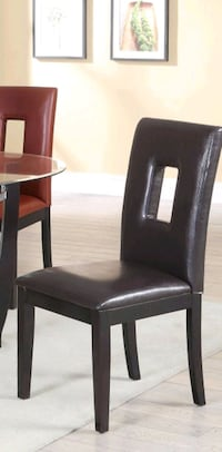 (Brand New) BLACK & BEIGE COLOR LEATHER CHAIRS