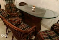round brown wooden table with chairs Bengaluru, 560005