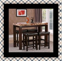 5pc Pub table with 4 stools Temple Hills