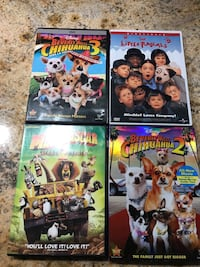 four assorted DVD movie cases Vancouver, 98682