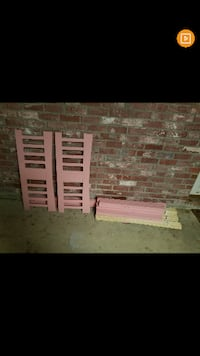 Pink twin size bed frame