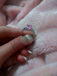 silver and pink gemstone ring Fort Pierce, 34982