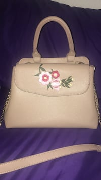 Beige leather two way bag Phoenix, 85017
