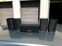 two black and gray tower speakers London, N6L 0B4