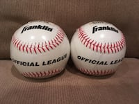 Franklin official league baseball 9 inch 5 ounce cork rubber core number 1538 Springfield, 18036