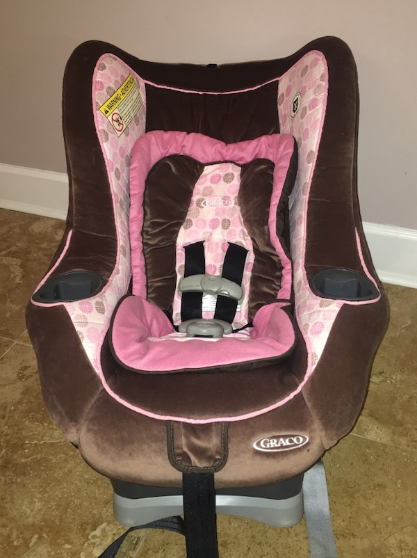 Chocolate Brown Pink Graco My Ride 65 Convertible Car Seat
