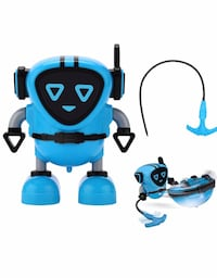Novelty Game Toy Spinning Top Robot Battle Gyro Pull Back Car Spinning in Wind Up Gyro Toy for Kids Boys Girls Gifts (Blue)