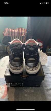 Air Jordan's retro black 3 cement and space Jams 11