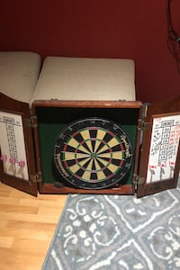 Dart board and case