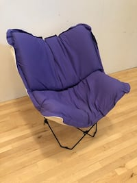 Padded purple canvas chair Centreville, 20120