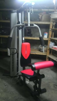 Used Red Black And Weiderpro Grey Lateral Pull Down For