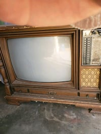 Antique Curtis Mathus floor model tv