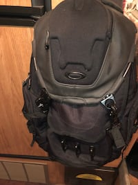 black and gray camping backpack