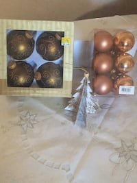 Glass ornaments four in one box,twelve in the other,all 16 for $6 dollars. Elmira, N3B