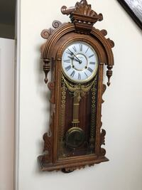Wall mounted grandfather pendulum clock, like new, price firm Vaughan, L6A 4C9
