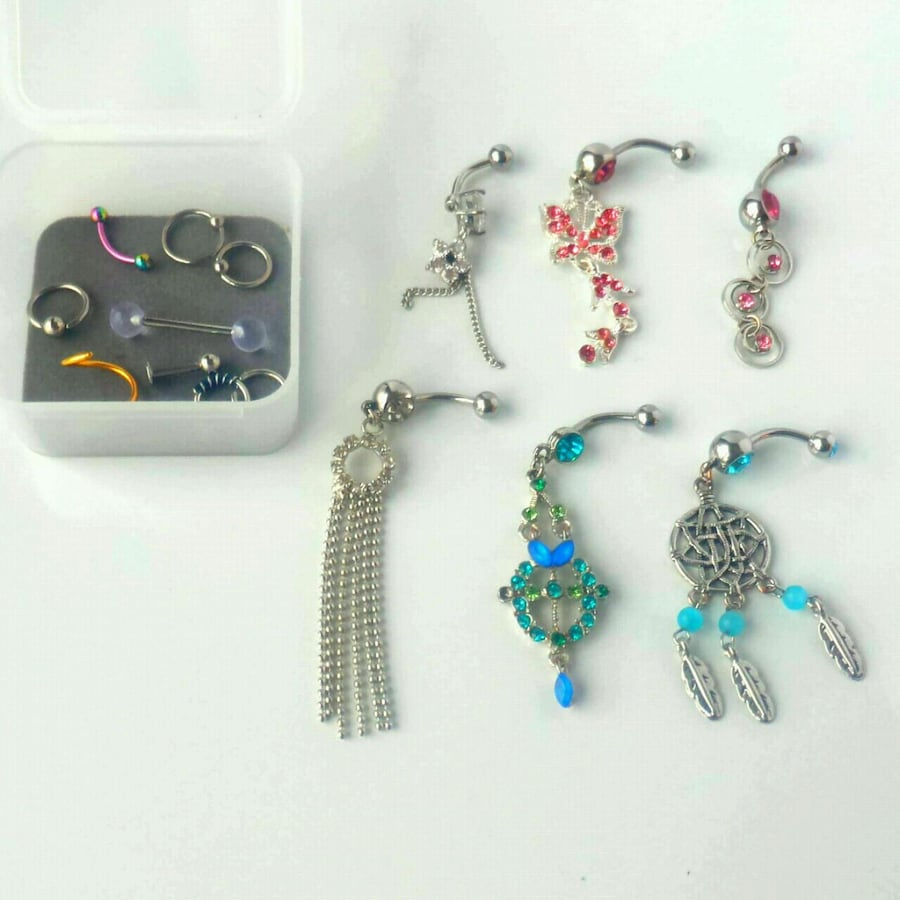 Assorted body jewelry.  New, never worn