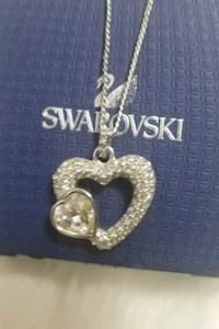 Swarovski Crystal heart pendant and chain.  Mississauga, L5V
