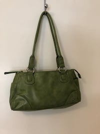 Women's spring green leather tote bag Vaughan, L4L 2Z7