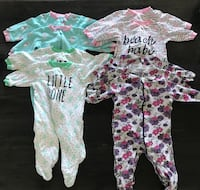 Assorted Baby Sleepers 6-12 Months Toronto, M1N 1M3