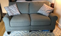 Gray fabric 2-seat sofa , 11238