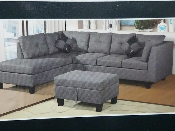 sectional sofa with the free storage ottoman