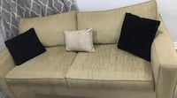 Beige sofa set (pull out bed and 2 chairs) Toronto, M9N 1P1
