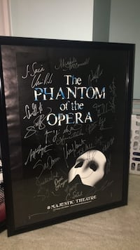 Phantom of the Opera signed poster (does not include frame) Fairfax, 22031