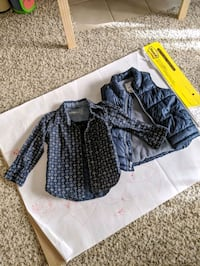 Gap button down and Old Navy puffer vest (size 2T) Rockville, 20850