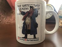 The Saturday Evening Post Christmas Coffee Tea Drink Cup Mug Norman Rockwell Hagerstown, 21740
