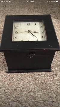 Clock With storage box built in