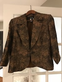 brown and black floral button-up jacket Laval, H7X 3P4