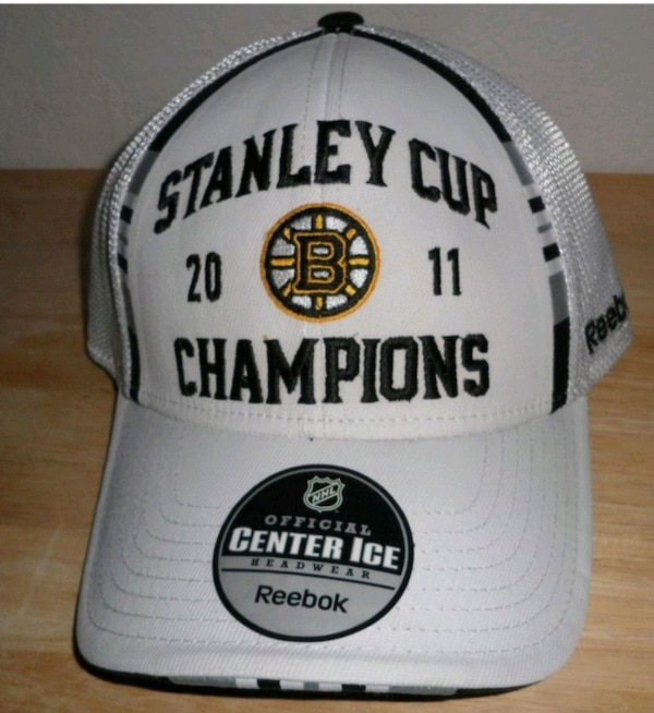 many fashionable good out x new arrive 2011 Boston Bruins Stanley Cup Reebok Hat & Cards usado en venta ...