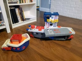 Toy submarine & Tug boat