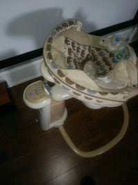 white and brown Fisher-Price cradle and swing Portsmouth, 23707