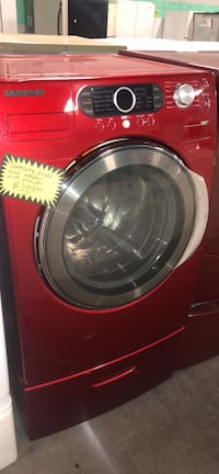 Samsung front load washer with pedestal
