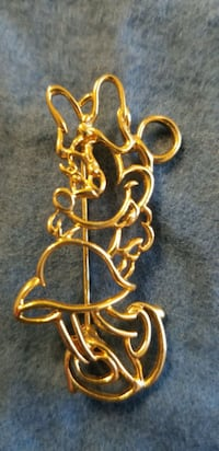 Vintage Minnie mouse silhouette pin brooch