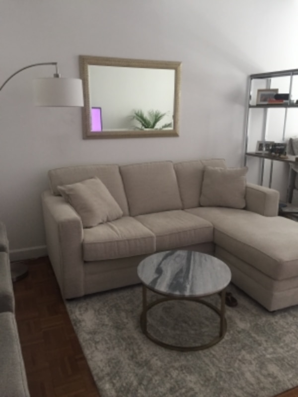 Reversible Wayfair Sectional for Sale- great for small spaces